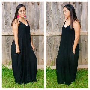 Night Sky Black Maxi Dress